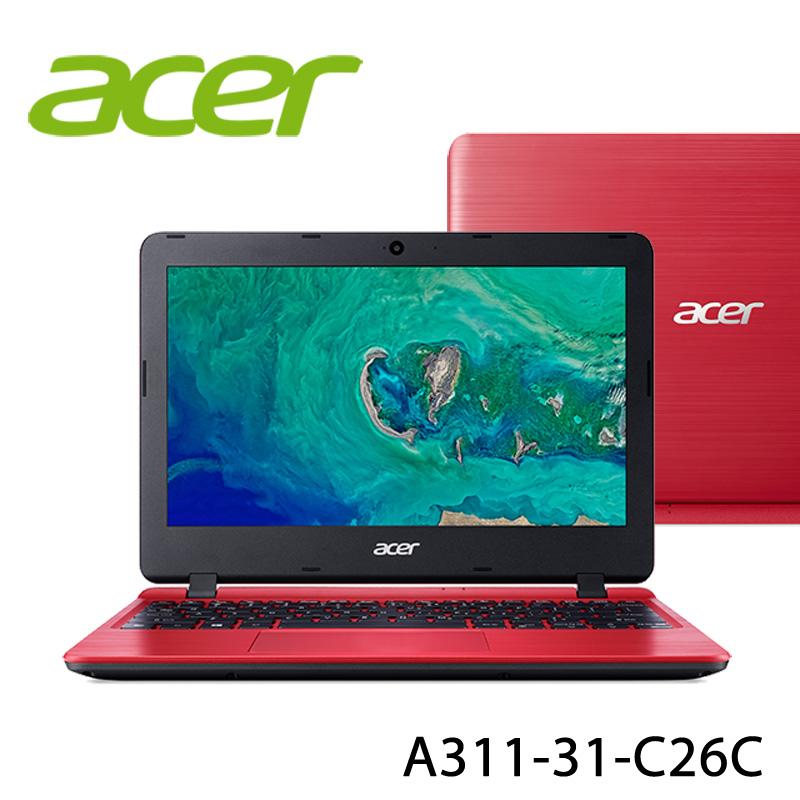 【ACER宏碁】 A311-31-C26C 紅 11.6吋 筆電-送美國OSTER隨行杯果汁機90th紀念款(市價1580元)+無線滑鼠