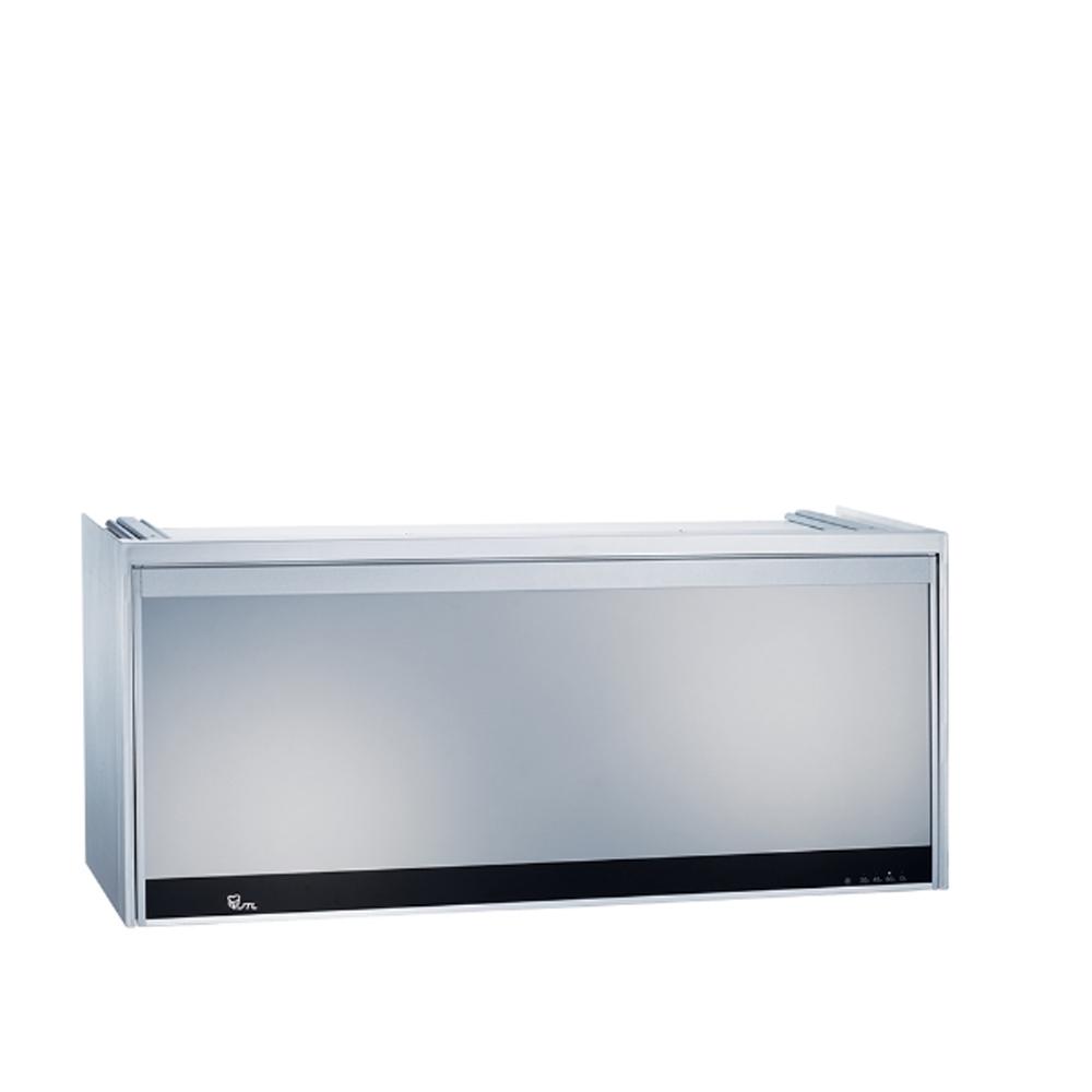 (全省安裝)喜特麗90公分LED全鏡面臭氧型懸掛式烘碗機銀色JT-3809Q