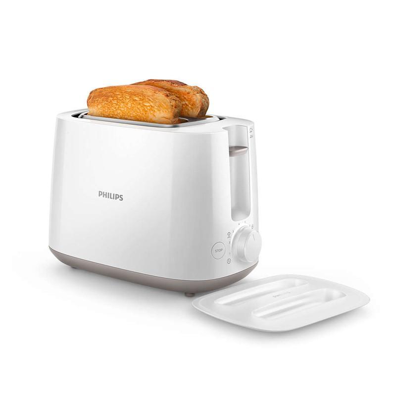 【飛利浦 PHILIPS】電子式智慧型厚片烤麵包機_白 (HD2582/02)