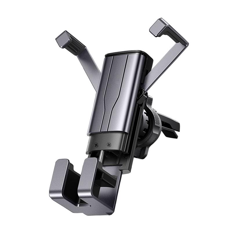 FJ重力鋁合金出風口車架DS9 4.7-7吋適用 深灰色