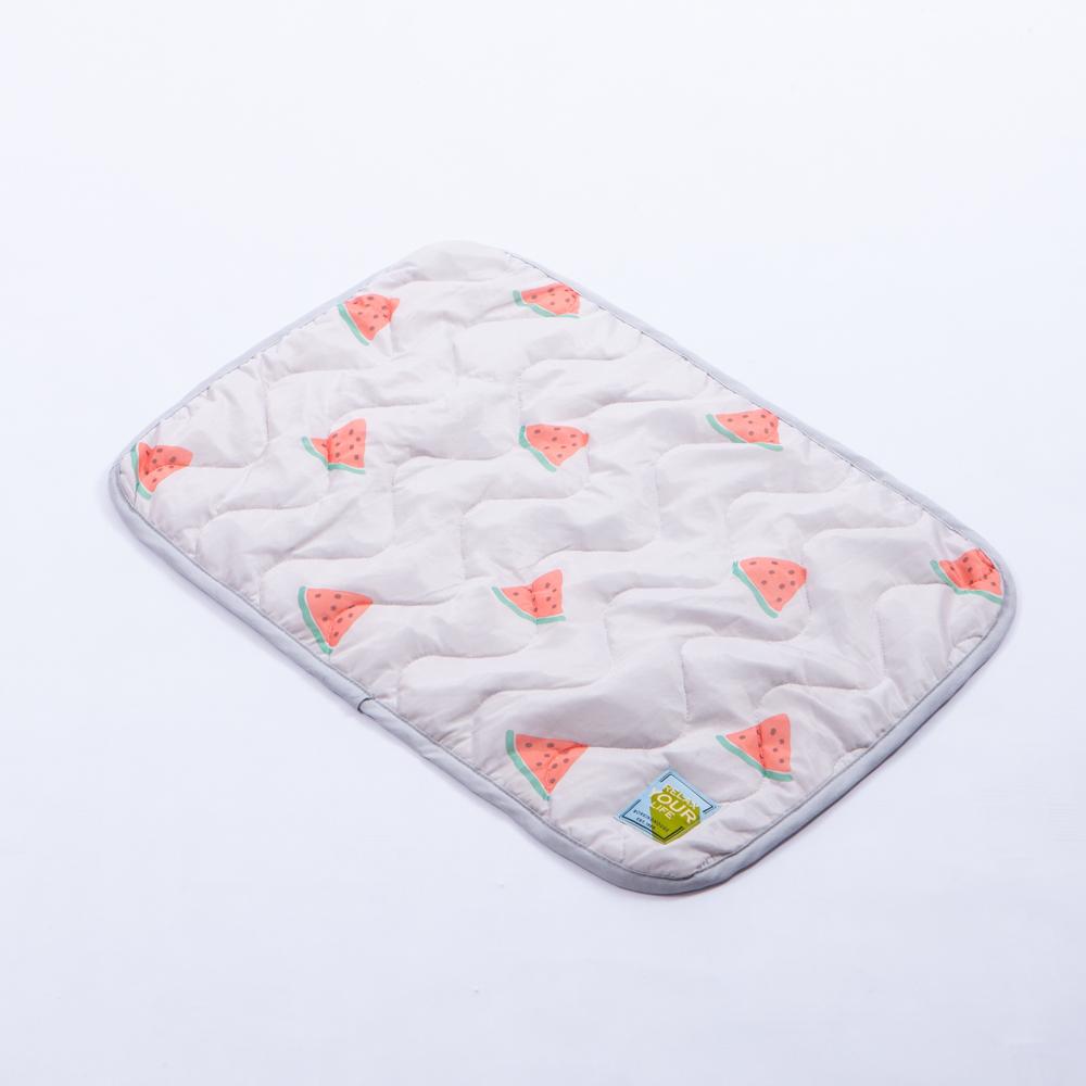 西瓜甜涼感枕頭墊2入組-灰-生活工場