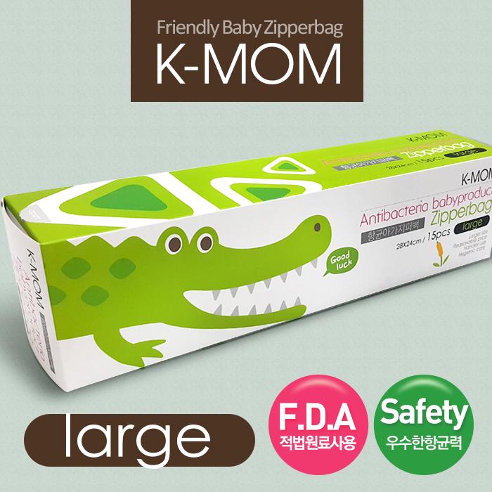【韓國MOTHER-K】嬰幼兒動物家族抗菌儲存袋-鱷魚喬治L*3盒