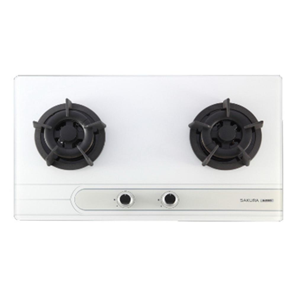 【櫻花 SAKURA】二口小面板易清檯面爐 G2522G (全台標準安裝,安裝費由現場安裝人員收取)
