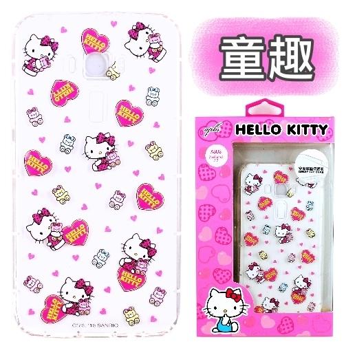 【Hello Kitty】ASUS ZenFone 3 (5.2吋) ZE520KL 彩繪空壓手機殼(童趣)