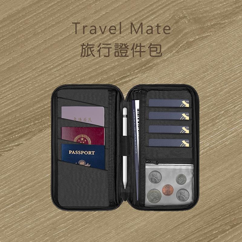 【WiWU】Travel Mate 多功能防水旅行證件3C整理包-黑