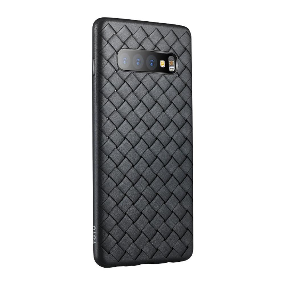 【TOTU台灣官方】S10Plus手機殼防摔殼 S10+ BV編織軟殼 柔系列 黑色