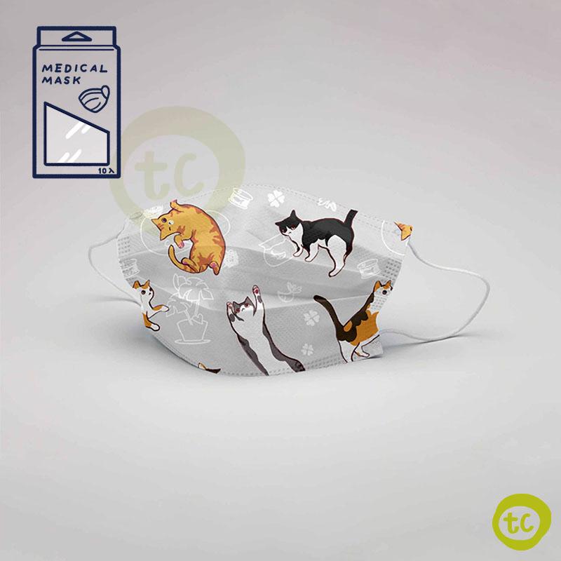 【台衛】雙鋼印口罩 可愛喵 (10入/盒)