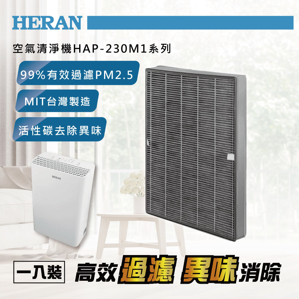 HERAN禾聯 空氣清淨機濾網 230M1-HCP (適用HAP-230M1系列)