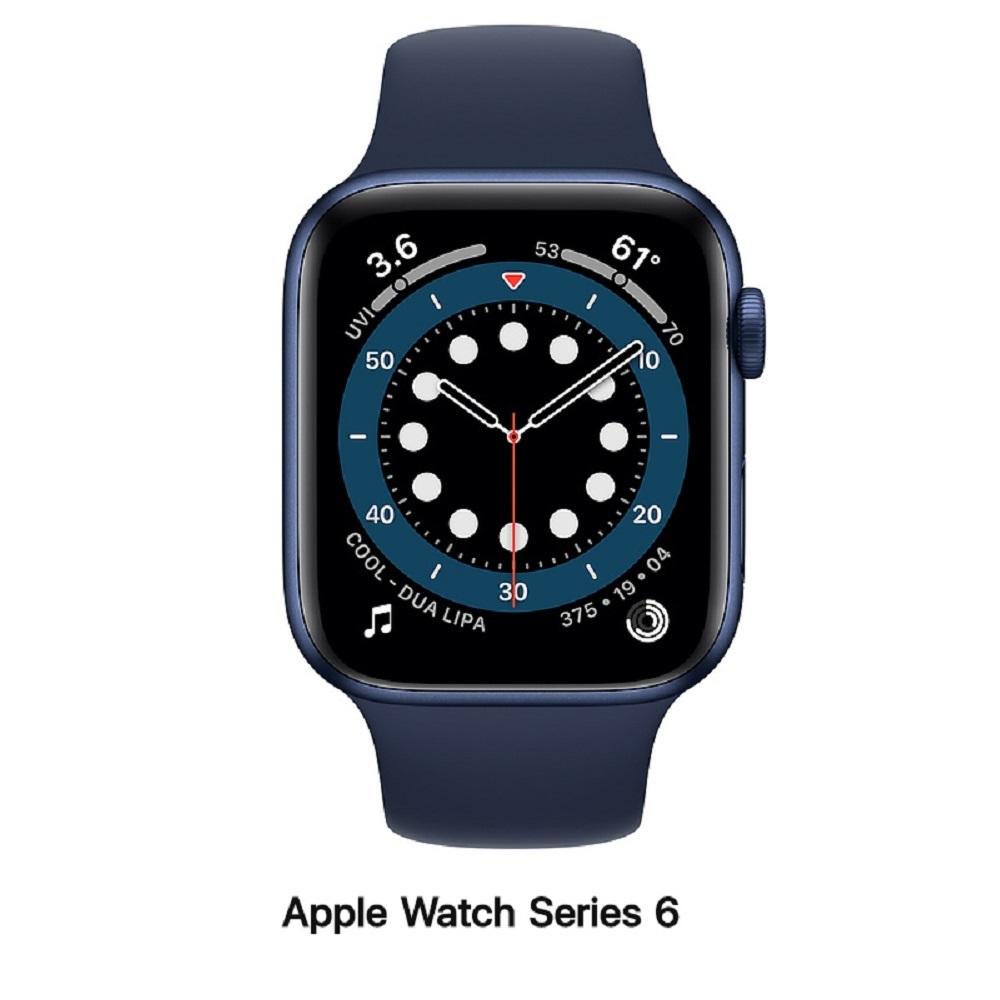 【血氧檢測】Apple Watch S6 44mm LTE版 藍色鋁錶殼配藍色運動錶帶(M09A3TA/A)