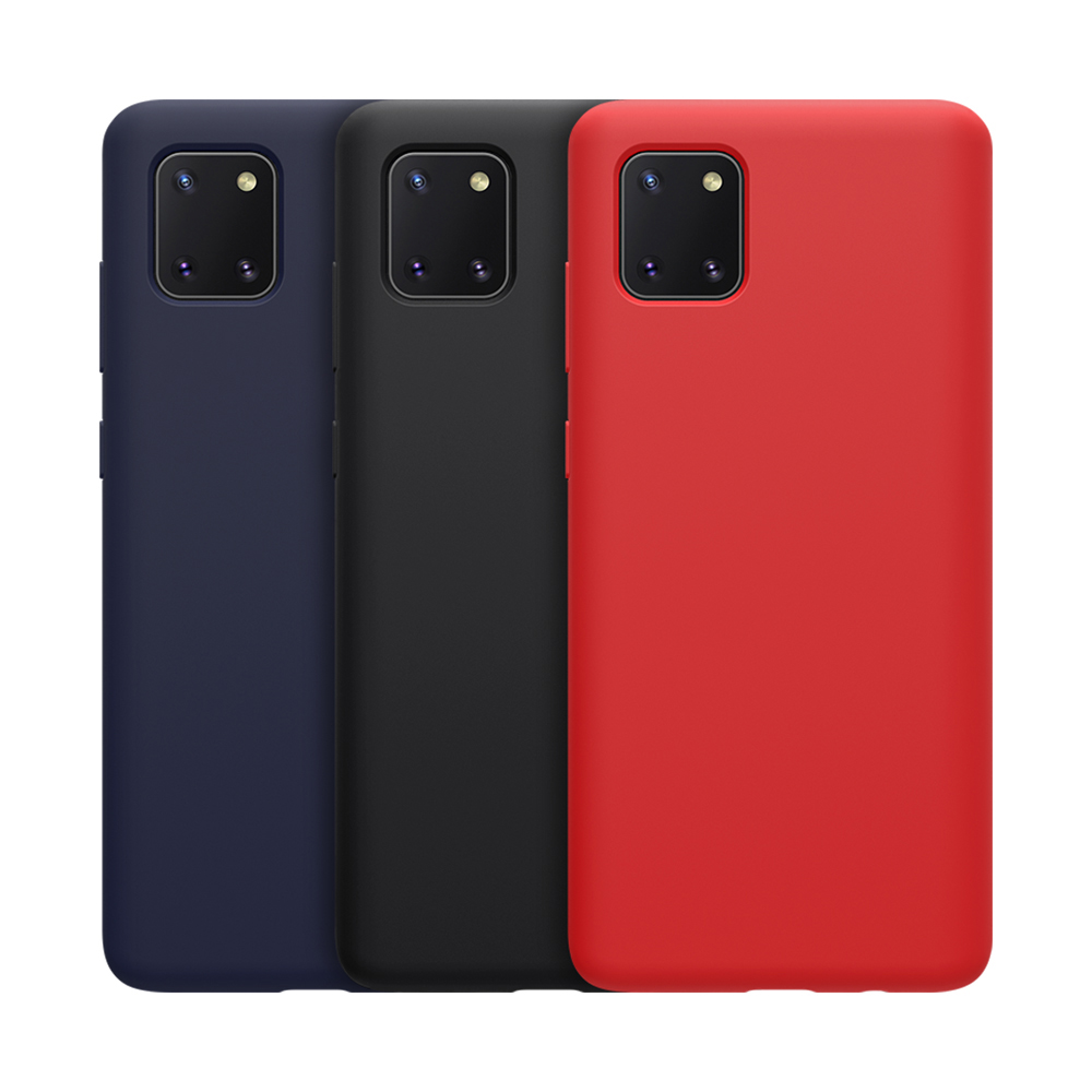 NILLKIN SAMSUNG Galaxy Note 10 Lite 感系列液態矽膠殼(藍色)