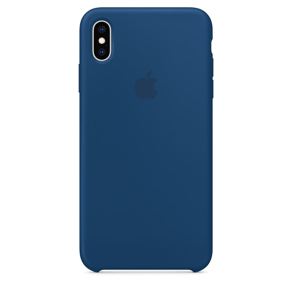 iPhoneXs Max原廠矽膠護套地平線藍