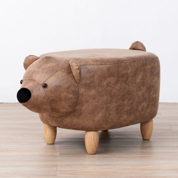 萌萌小熊造型收納椅凳-生活工場