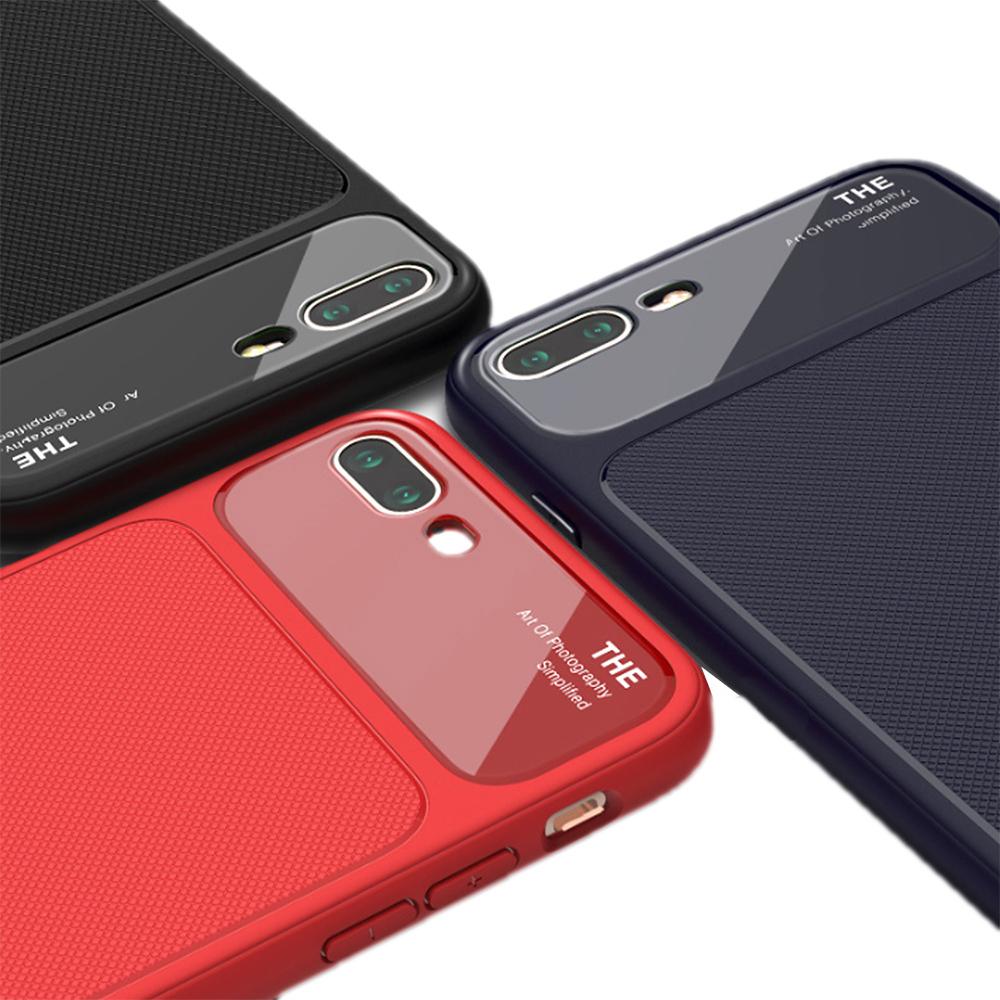 QinD Apple iPhone 8 Plus /7 Plus 爵士玻璃手機殼(藍色)