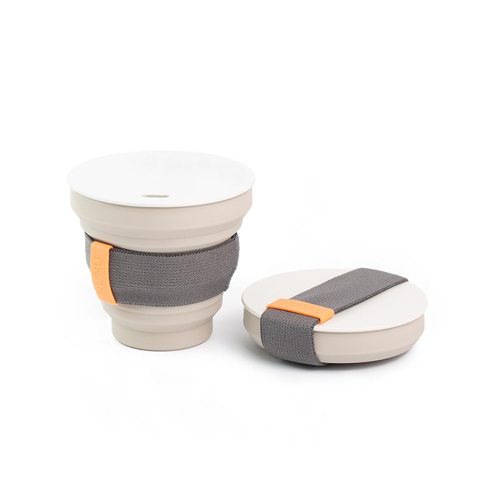 HUNU環保摺疊口袋杯-淺灰