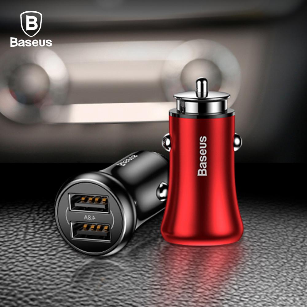 Baseus倍思 紳士系列 4.8A 雙USB車充 -黑色