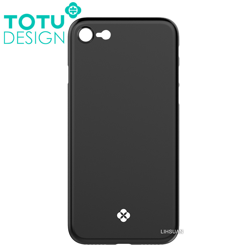 【TOTU台灣官方】iPhone8手機殼 晶瑩系列 黑色