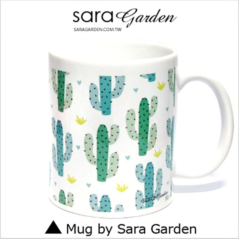 【Sara Garden】客製 手作 彩繪 馬克杯 Mug 水彩 漸層 可愛 仙人掌掌 咖啡杯 陶瓷杯 杯子 杯具 牛奶杯 茶杯