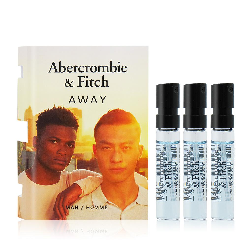 Abercrombie&Fitch A&F AWAY境男性淡香水(2ml)X3 EDT-隨身針管試香