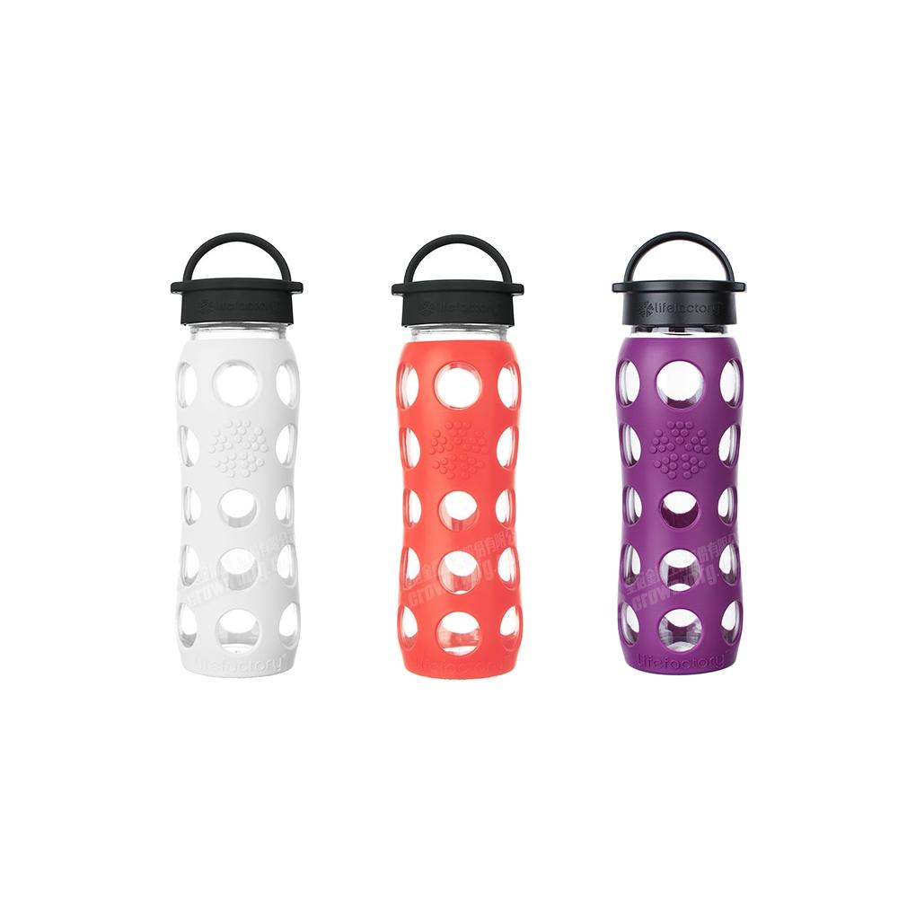 LIFEFACTORY玻璃水瓶平口650cc紫色玻璃杯CLA-650-PLB