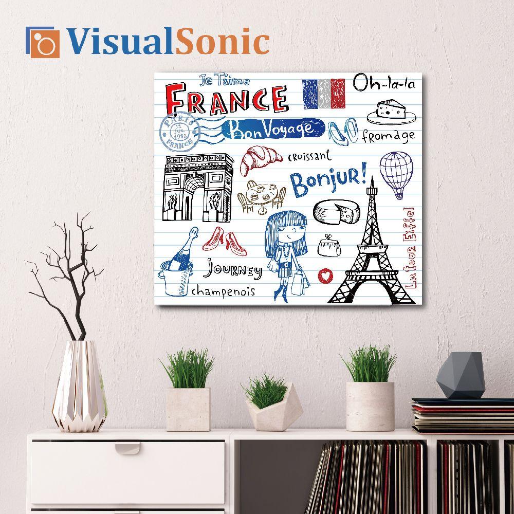 【VISUAL SONIC 夏潮 】超薄藍牙畫布音箱France