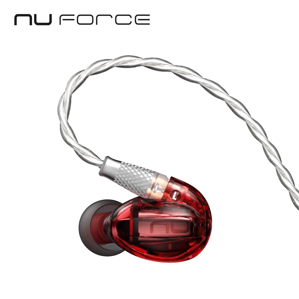 美國NuForce HEM1 可換線監聽級入耳式耳機- 豔唇紅
