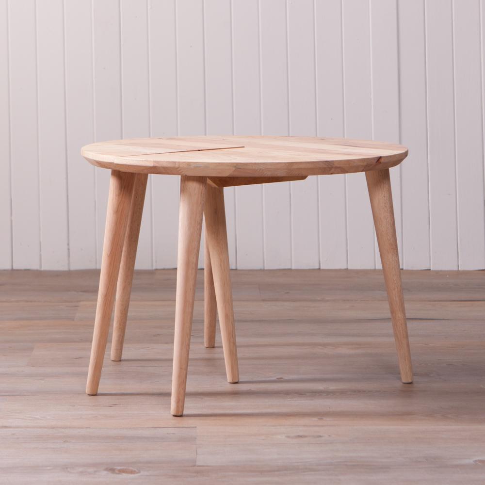 自然簡約生活二用圓形邊桌-生活工場