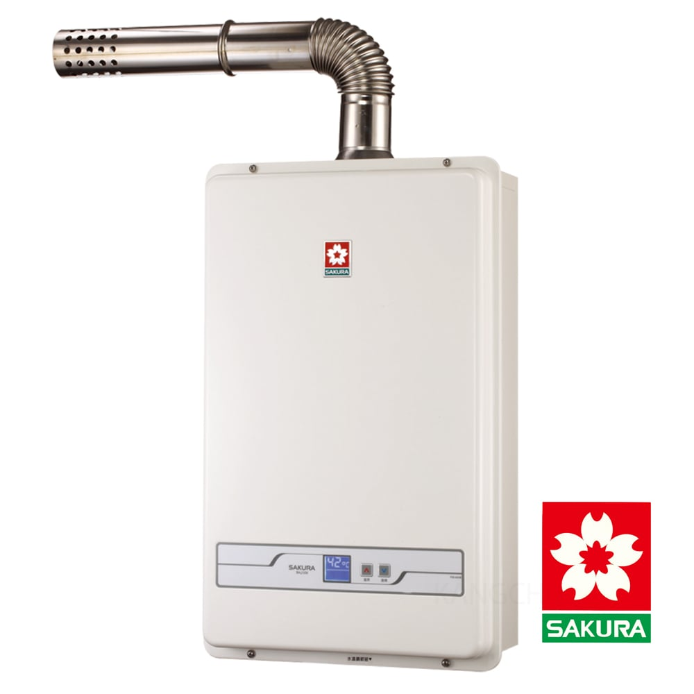 櫻花牌 數位恆溫13L強制排氣熱水器 SH-1335(天然瓦斯適用)