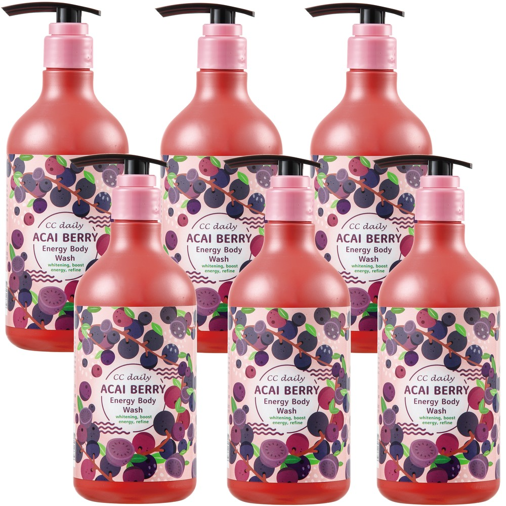 《台塑生醫》CC daily巴西莓果能量沐浴乳580g*6入