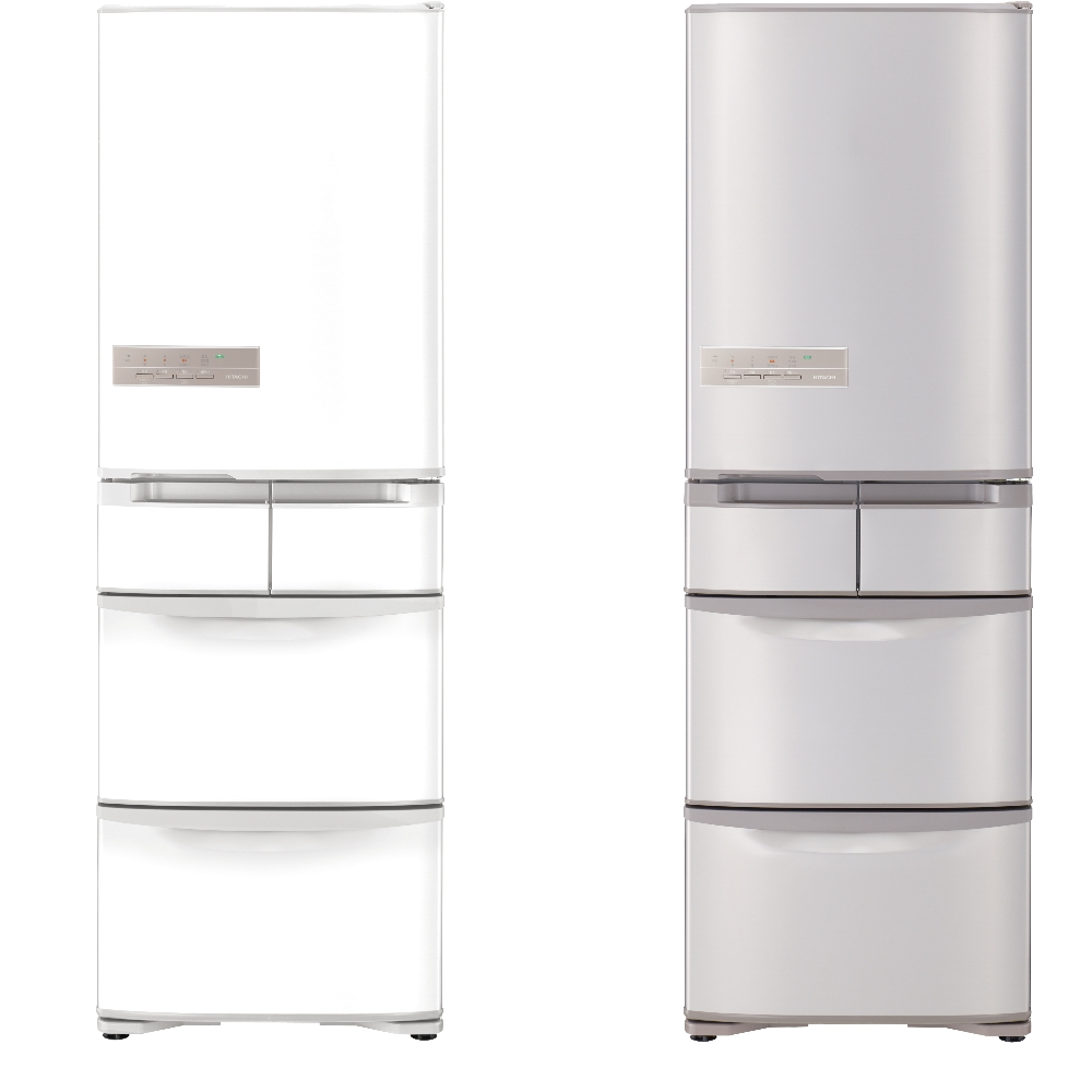 【HITACHI 日立】日本原裝變頻407L五門電冰箱 RS42HJ-香檳不銹鋼