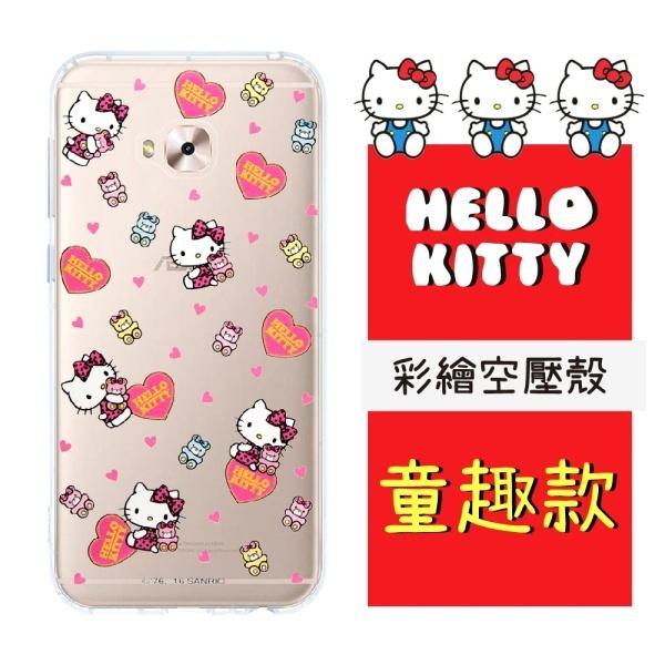 【Hello Kitty】ASUS ZenFone 4 Selfie Pro (ZD552KL) 彩繪空壓手機殼(童趣)