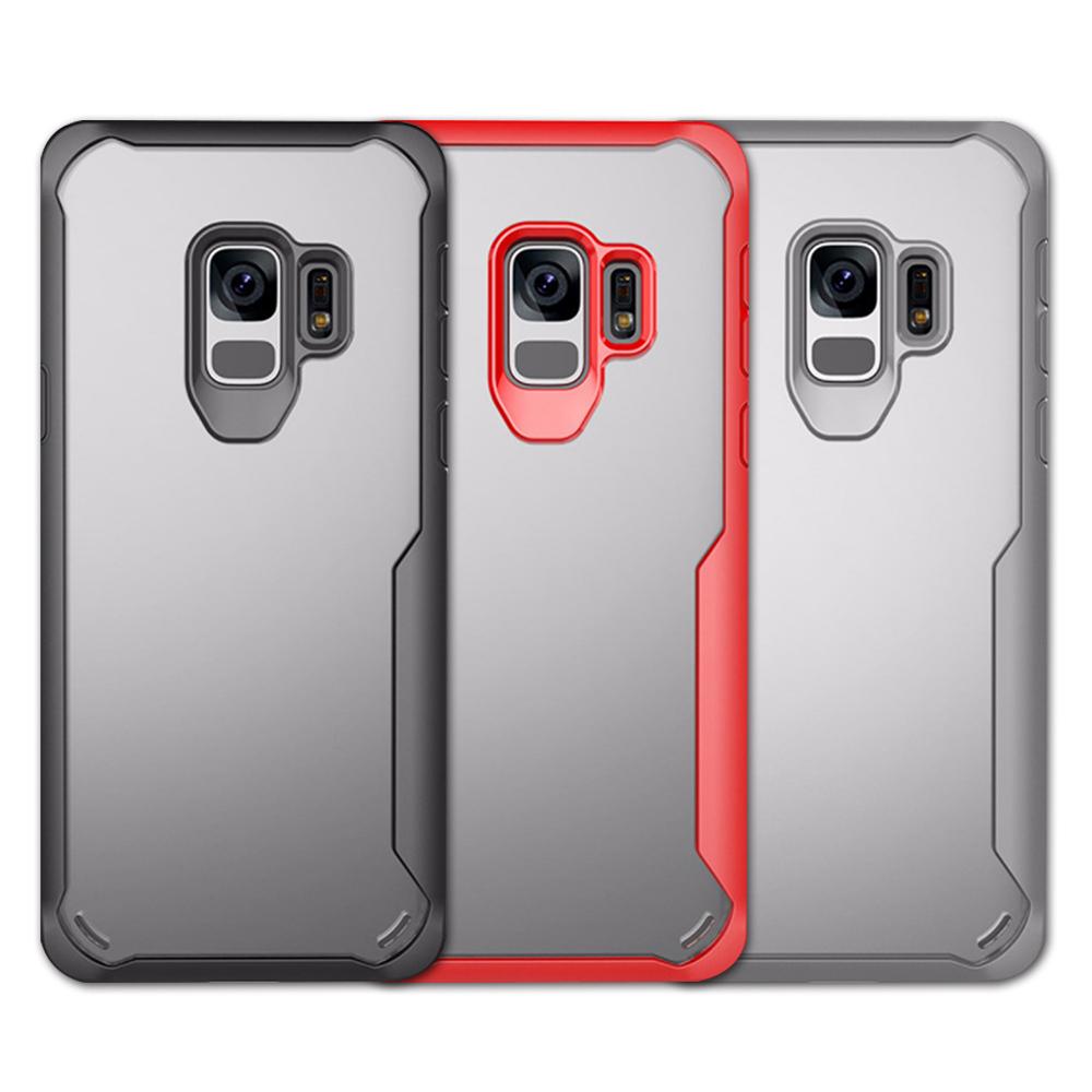 QinD SAMSUNG Galaxy S9 簡約防摔套(紅色)