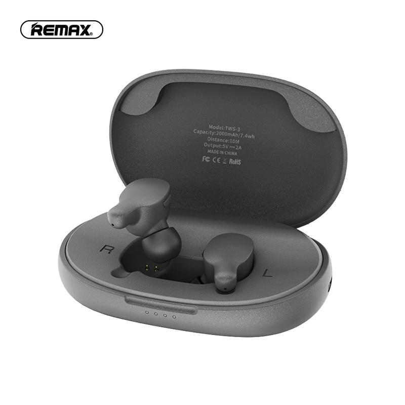 REMAX TWS-3 真無線藍牙耳機-灰色