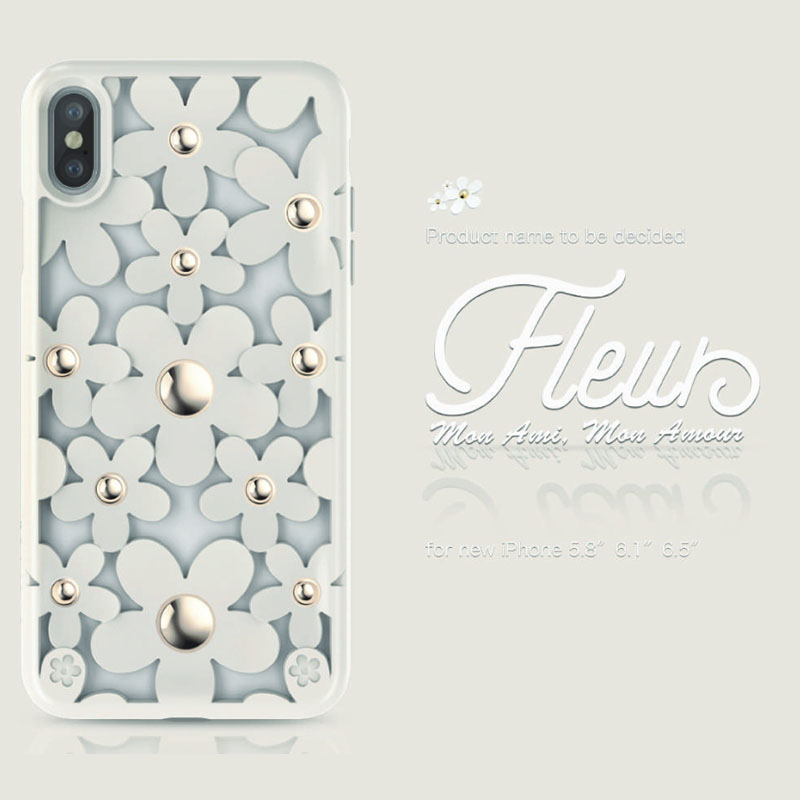 Switcheasy Fleur IPHONE XR 鏤空花朵防摔保護殼 (白色)
