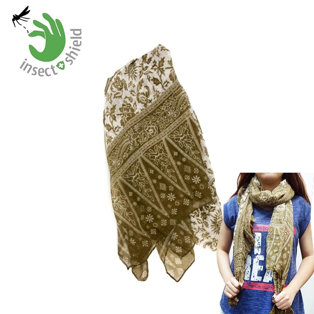 【美國insect shield】 多功能防蚊蟲圍巾披巾-橄欖綠