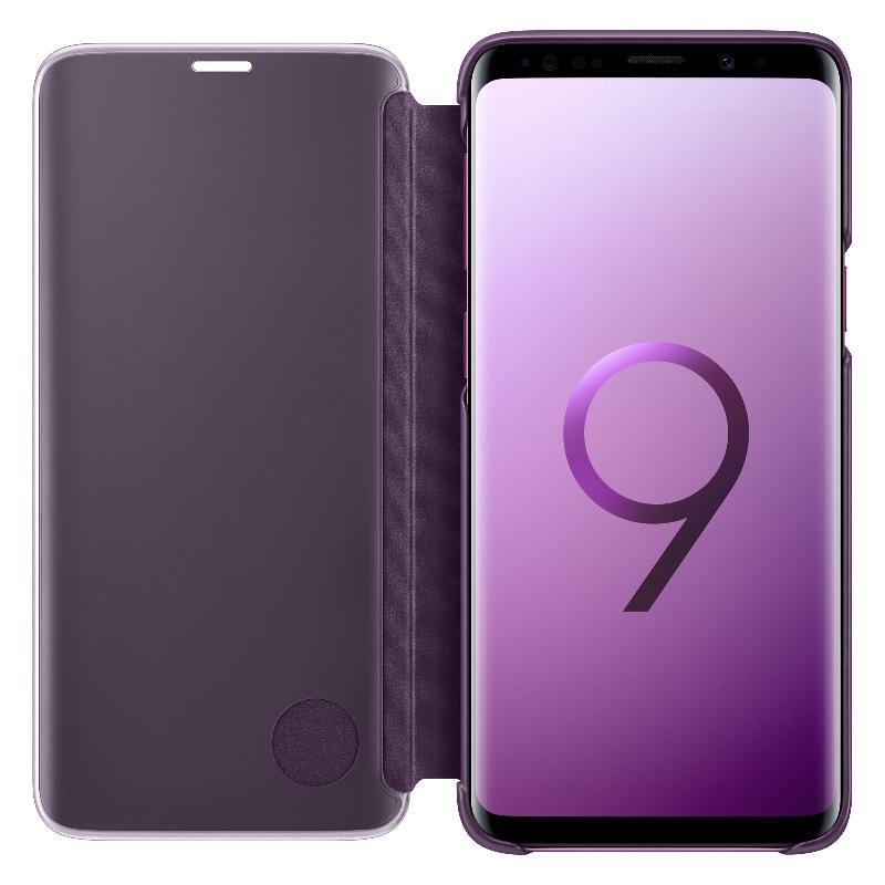 SAMSUNG Galaxy S9透視感應皮套(立架式) 紫色
