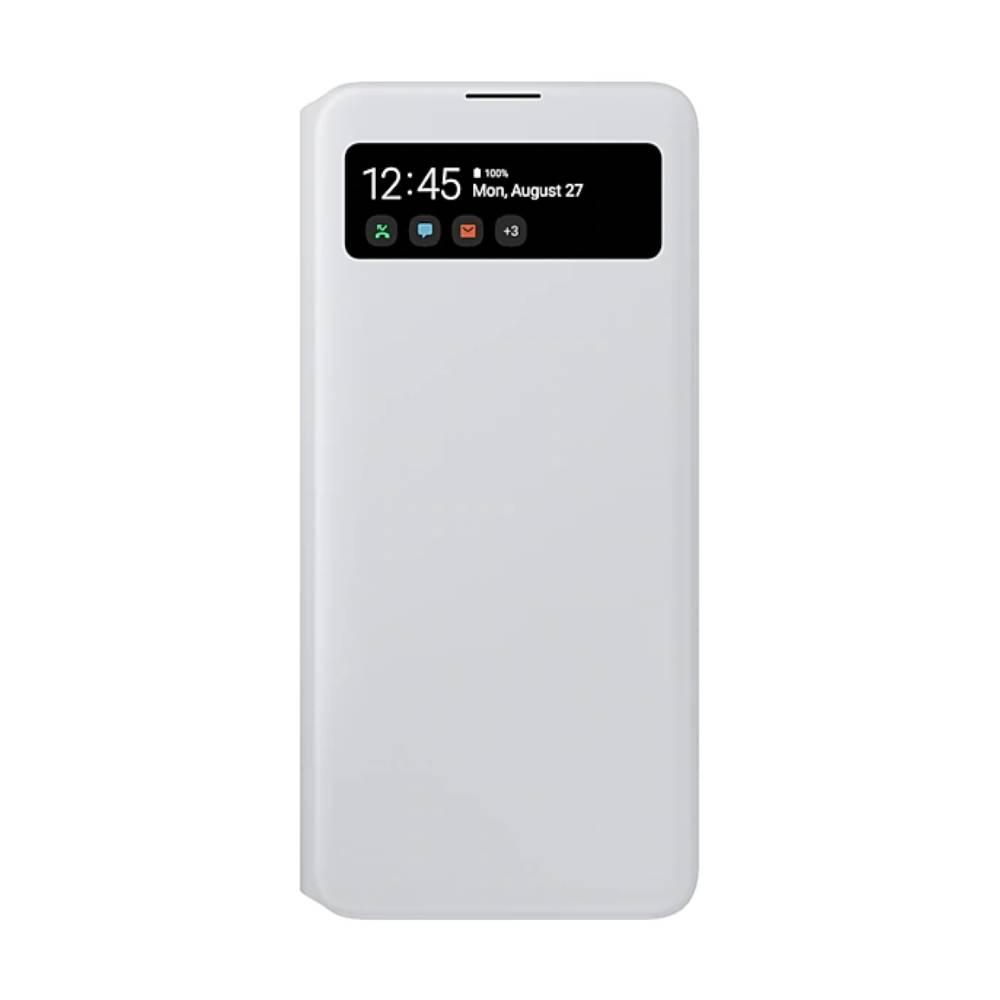 SAMSUNG Galaxy A71透視感應皮套 白