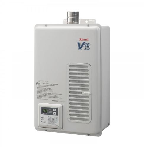 (全省安裝)林內16公升屋內強制排氣(與REU-V1611WFA-TR同款)熱水器REU-V1611WFA-TR_LPG