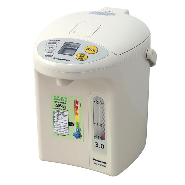 【Panasonic國際牌】3公升真空斷熱電熱水瓶 NC-BG3001
