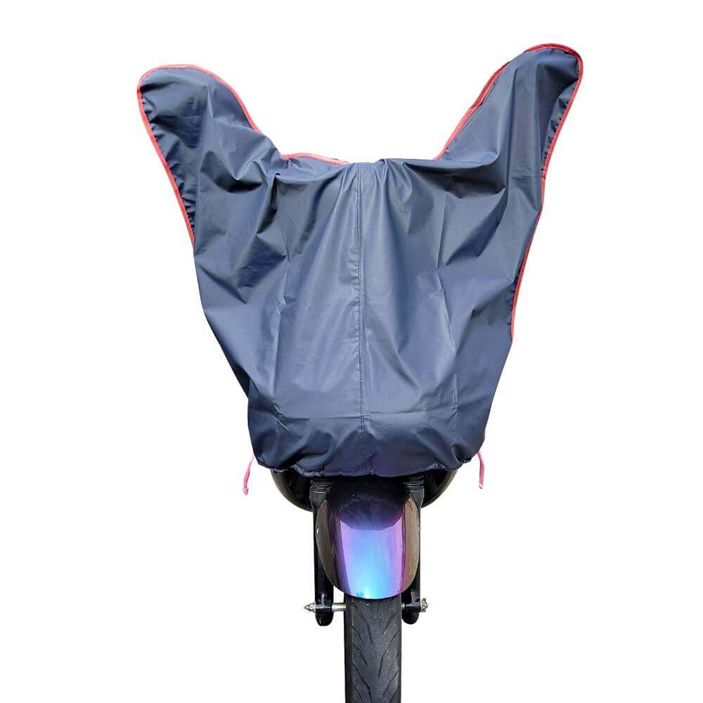 【蓋方便】防水防曬-機車龍頭罩(加長版-藍灰色)適用Gogoro與50-125cc各式機車龍頭