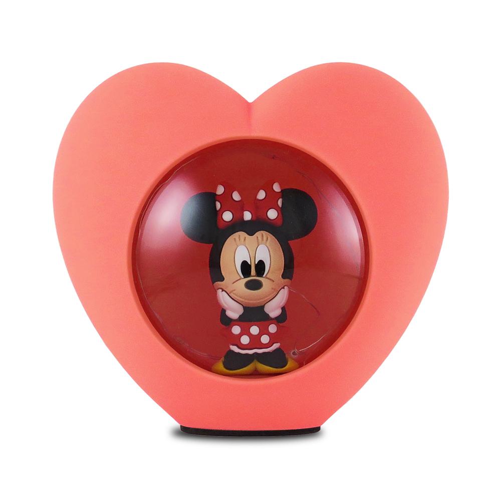 Disney迪士尼LED USB心型小夜燈_米妮