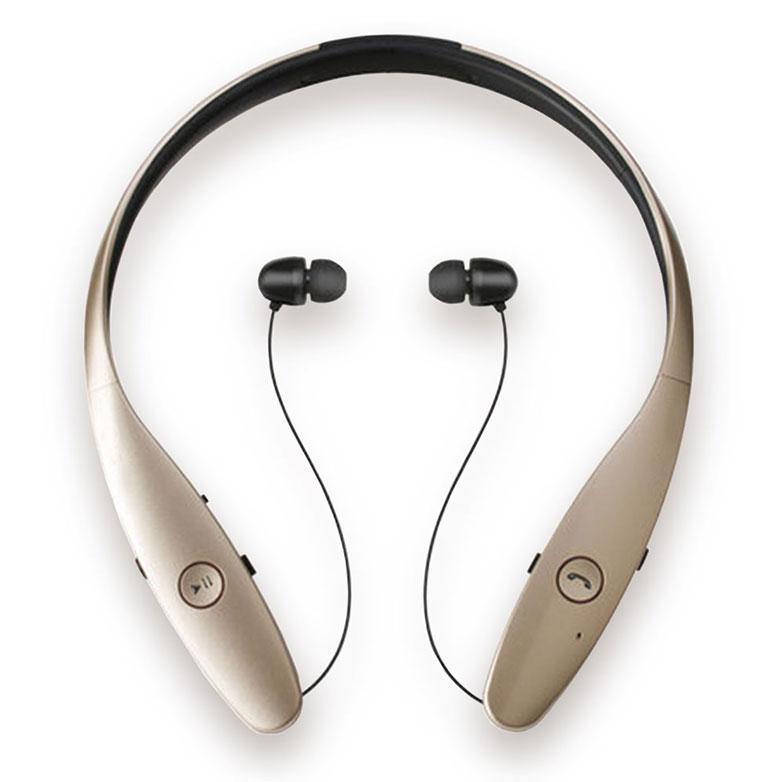 【NAMO】Z7 -金色(頸掛式運動藍芽耳機 可LINE通話 聽音樂 藍牙耳機 藍牙4.0)