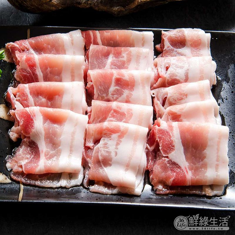 【鮮綠生活】國產豬五花涮肉片(火鍋用)200g 共16入