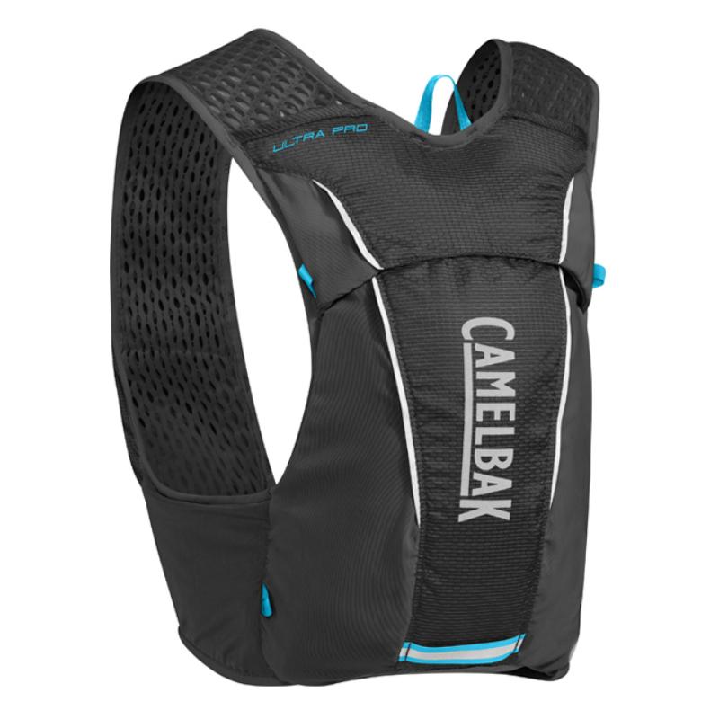 【美國 CAMELBAK】極限越野水袋背心 M 黑(附0.5L軟水瓶2個)