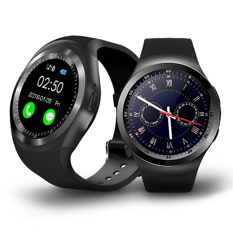 【u-ta】圓款時尚觸控智慧手錶W9(公司貨)曜石黑