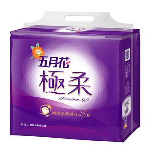 【五月花】五月花極柔頂級抽取式衛生紙110抽x12包x6串/箱