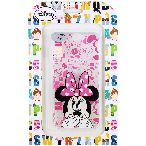 【Disney】HTC One A9 摀嘴系列 彩繪透明保護軟套(米妮)