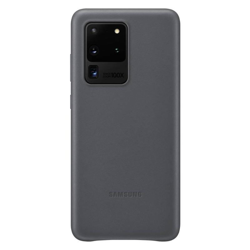 SAMSUNG Galaxy S20 Ultra 5G皮革背蓋 灰