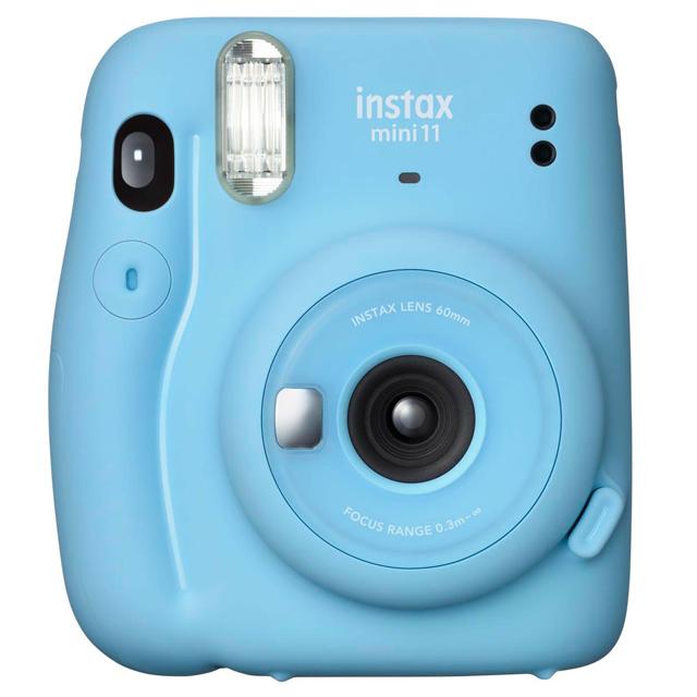 FUJIFILM instax mini 11 拍立得相機 送束口袋 (公司貨) - 晴空藍