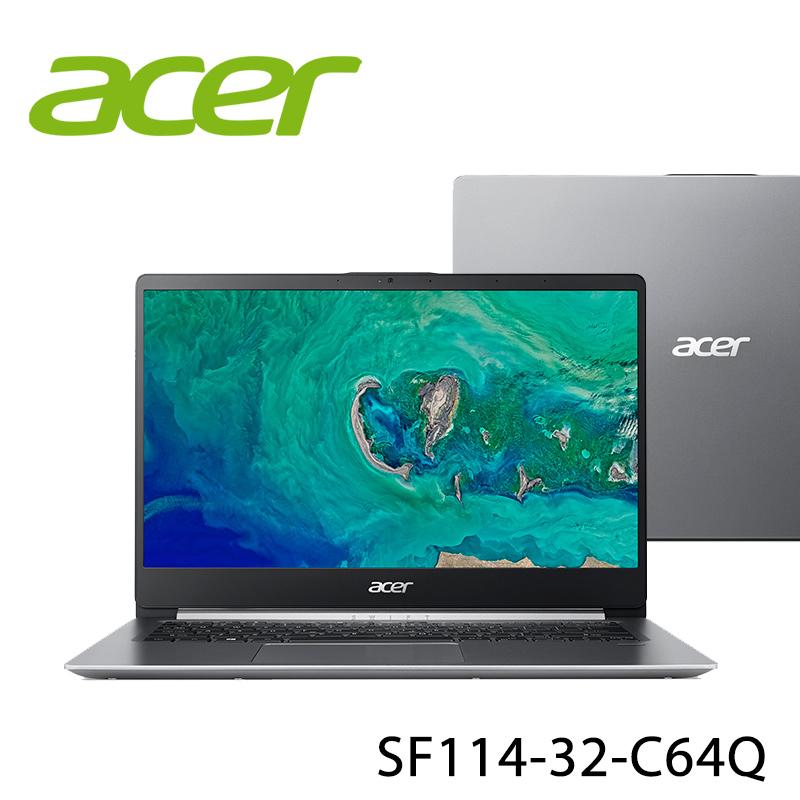 【ACER宏碁】SF114-32-C64Q 14吋 四核心 筆電-送無線鼠+電腦除塵刷(贈品隨機出貨)
