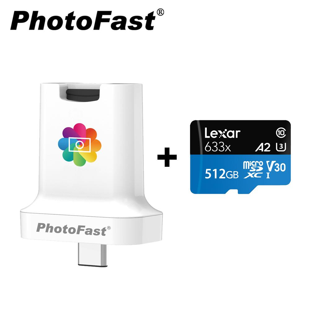 ★熱銷商品↘9折 Photofast PhotoCube C 蘋果/安卓雙用備份方塊【含512GB記憶卡】